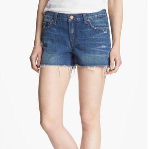 J Brand Cut Off Destroyed Denim Jean Shorts E2585